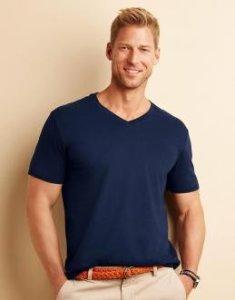 Gildan Mens Softstyle® V-Neck T-Shirt Gildan 64V00